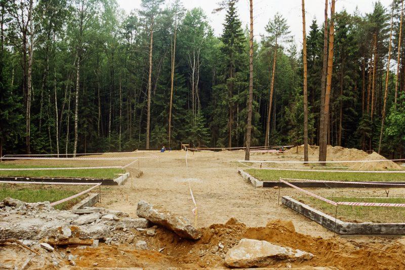 Budowa cmentarza