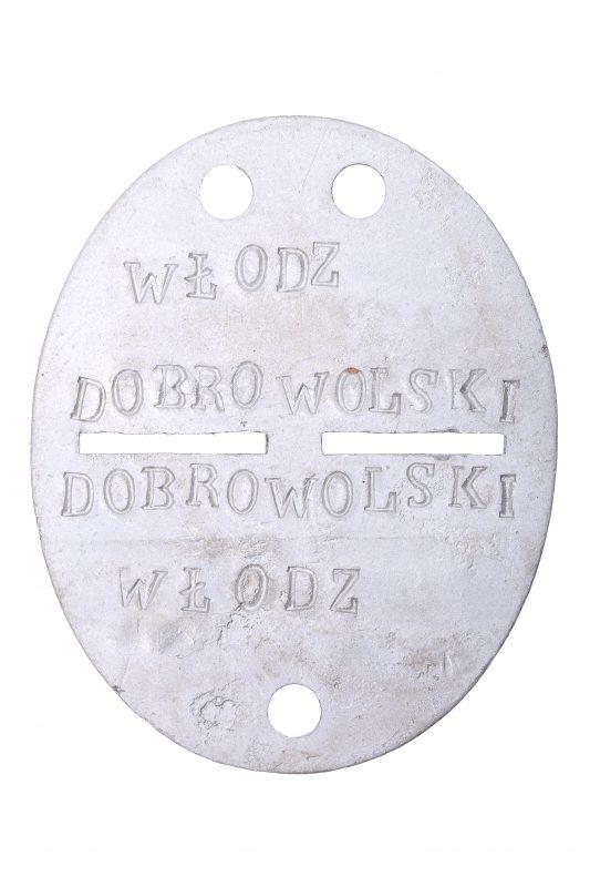 Włodzimierz Dobrowolski's identification tag